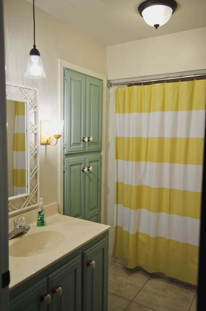 annie sloan chalk paint cabinets in duck egg painted bathroom vanity west elm shower curtain