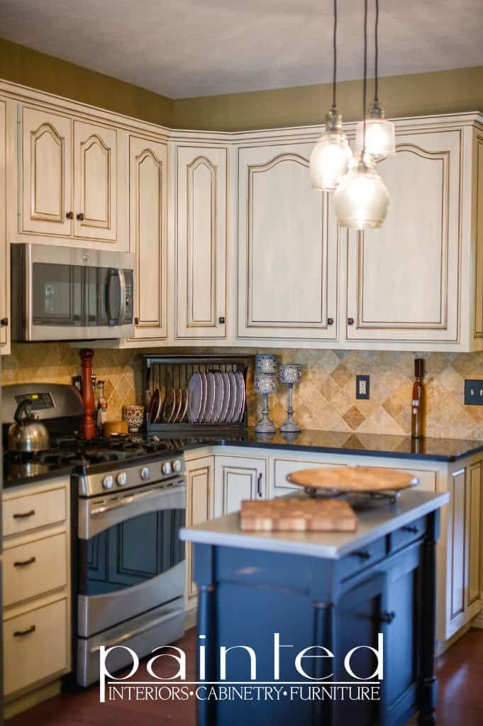 glazed kitchen cabinets pinstripe glazing oyster bar sherwin williams ProClassic Semi Gloss