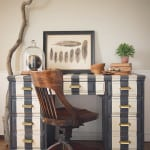 Striped Desk in Annie Sloan Chalk Paint
