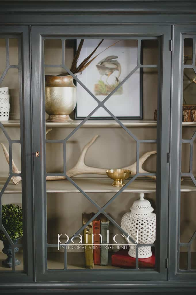 Antique china cabinet painted in Annie Sloan