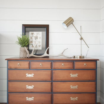 Two Tone Dresser and Chest