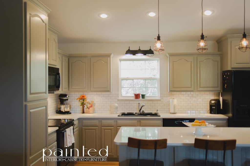 kitchen cabinets in old monterey gray - paintedkayla payne