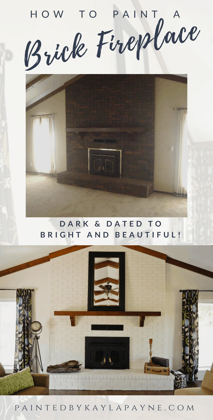 how to paint a brick fireplace painted by kayla payne