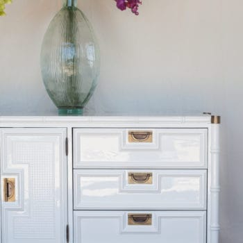Stanley Faux Bamboo Dresser in White Dove