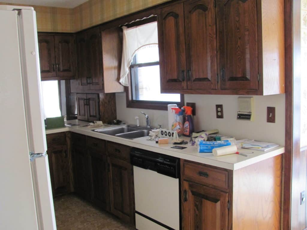 Our Fixer Upper Kitchen Remodel Before And After Painted