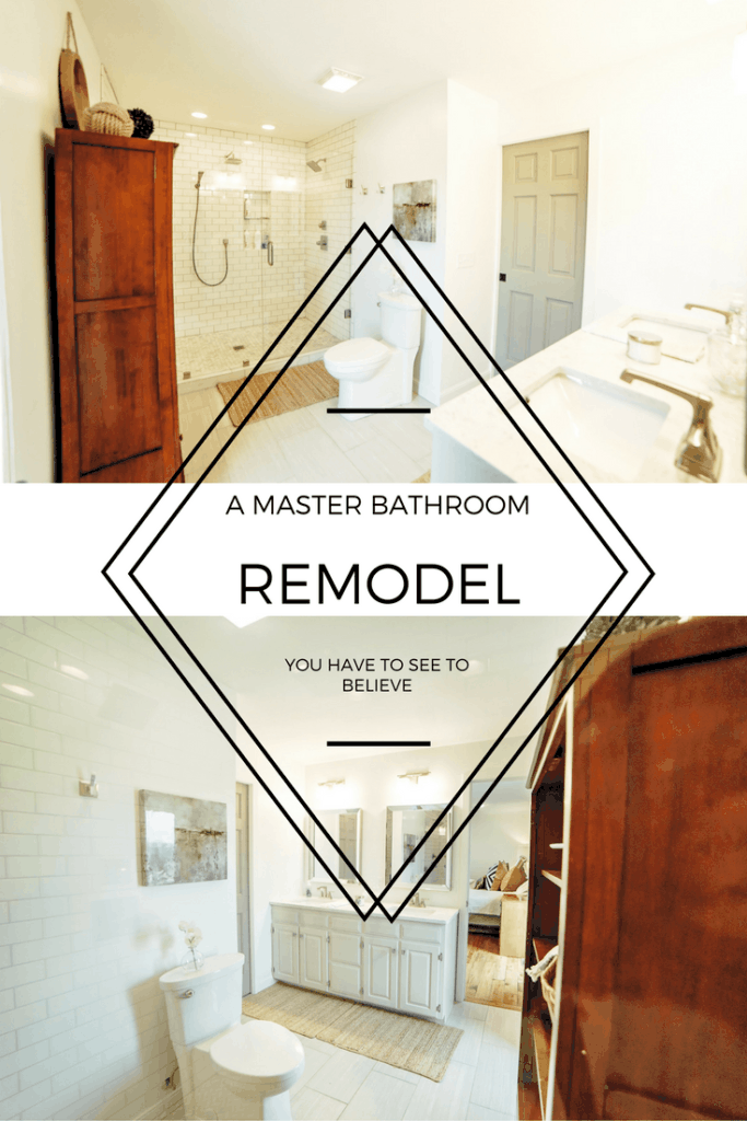 A master bathroom remodel you will have to see to believe!