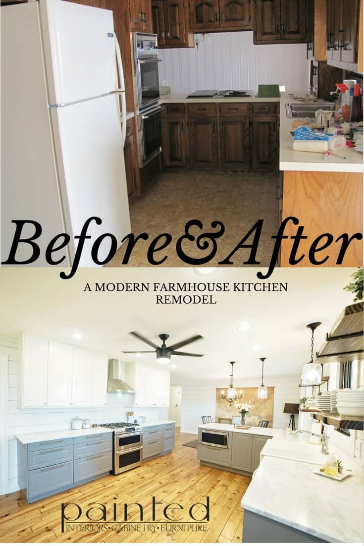 Our Fixer Upper Kitchen Remodel Before and After-Painted by ...