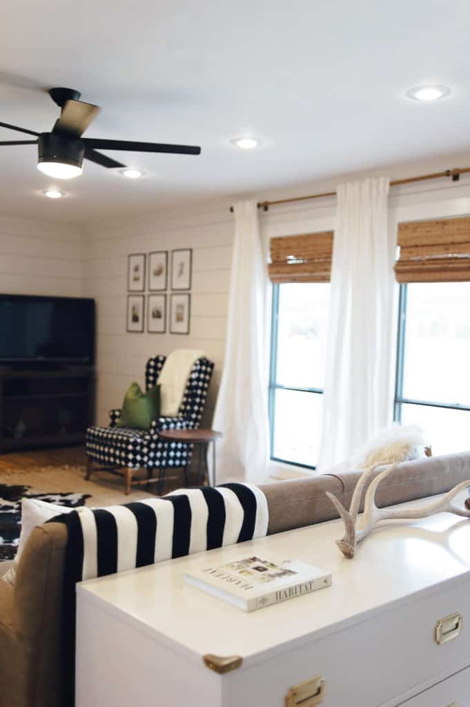 Light and bright living room color scheme makes for a fresh and modern looking interior