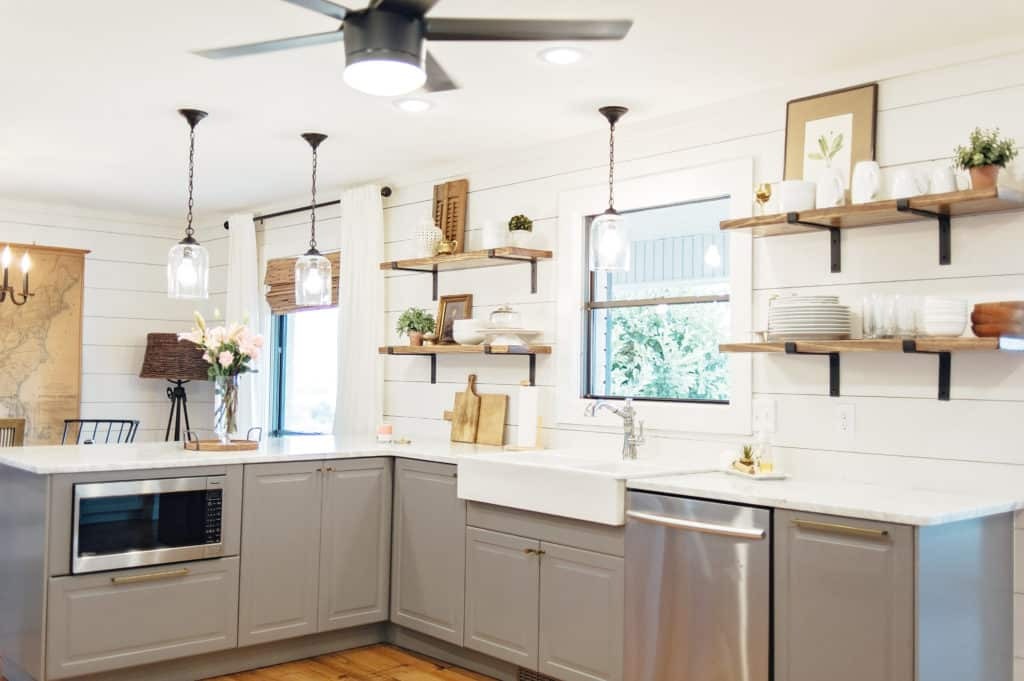 Our Fixer Upper Kitchen Remodel Before And After Painted By Kayla Payne