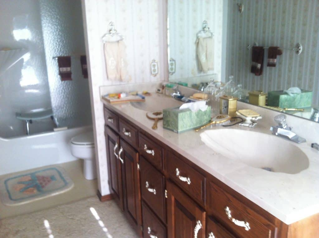Our Current Fixer Upper Master Bath Painted By Kayla Payne