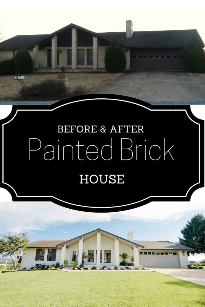 Painting our brick house painted by kayla payne for Painted brick houses before and after pictures