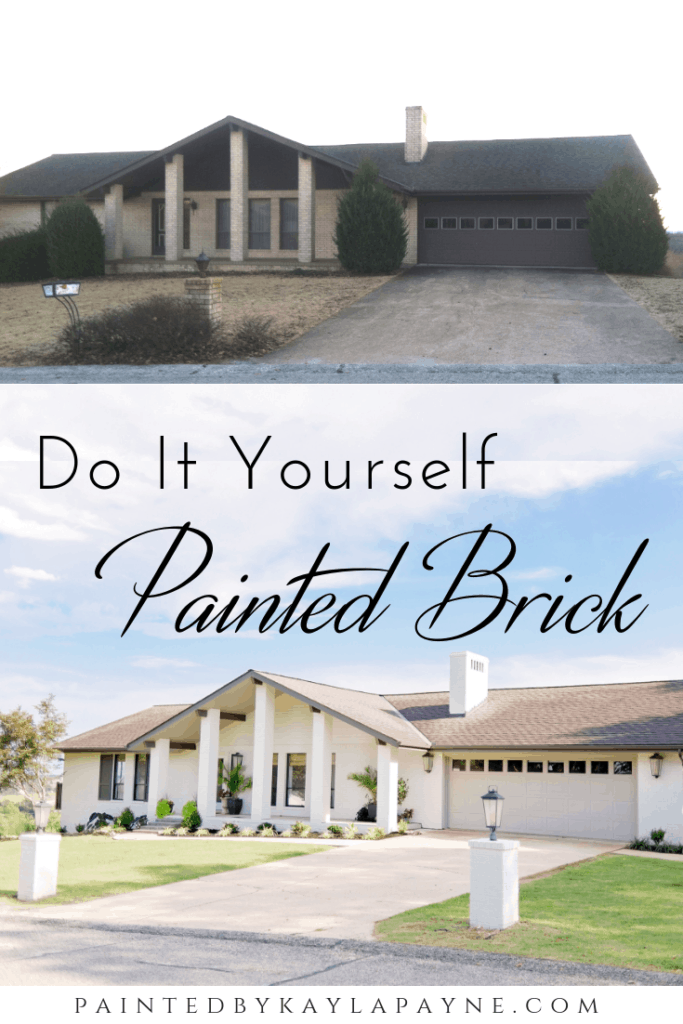 Painted Brick House Before And After How To Paint A