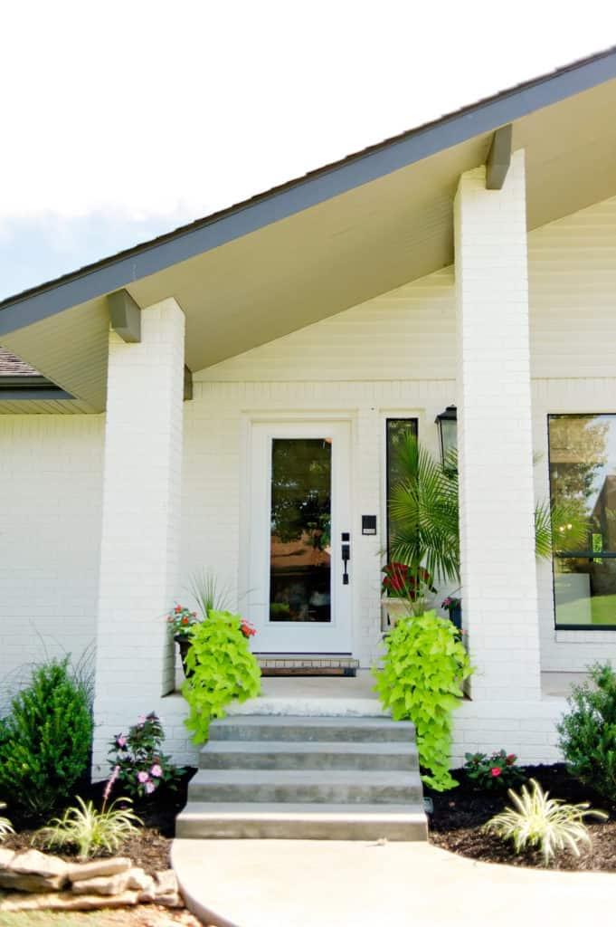 Beautifully renovated painted brick house