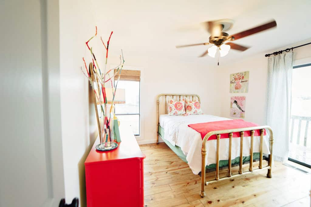 soft blush girl's bedroom