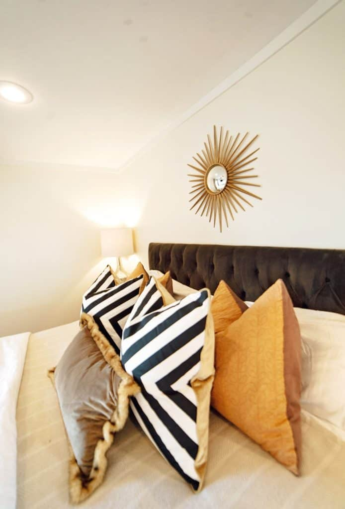 black and white stripe pillows