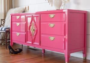 Peony Pink Century Dresser