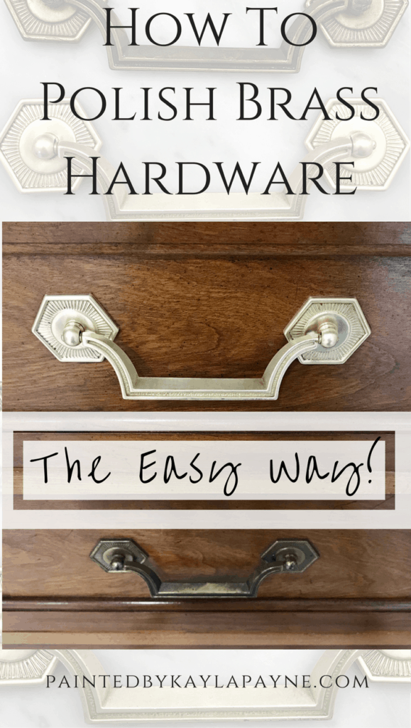 How to polish brass hardware the easy way!