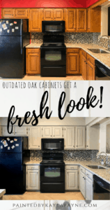 Outdated Oak Cabinets Get A Fresh Look
