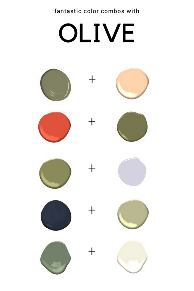 Great color combinations using shades of Olive green.