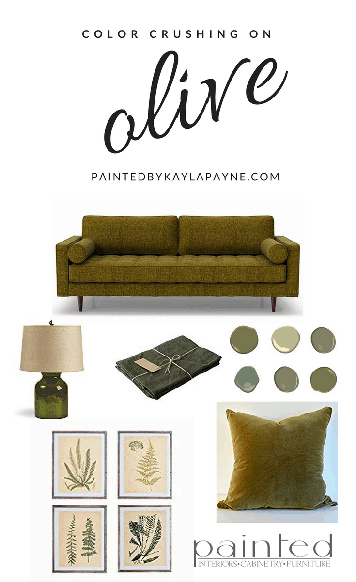 Join me as I color crush on all things olive!
