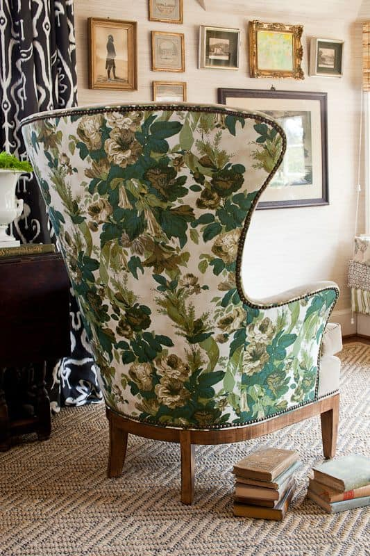 Attractive Lauren Liess Can Absolutely Do No Wrong! This Bold Floral Print Chair Is  Utterly Amazing Good Ideas