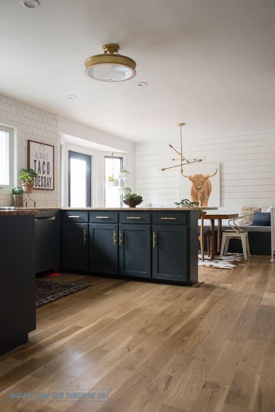Lighter wood floors on trend for 2018!