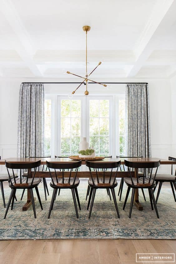 Fresh and bright dining room makes a bold yet simple statement!