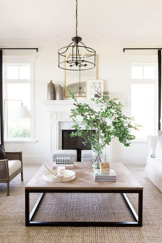 Simply decorated living room is a breath of fresh air!