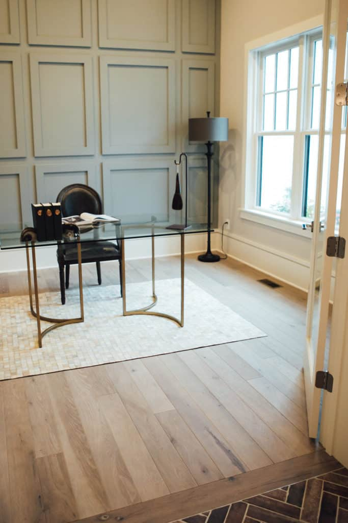 Lighter wood tones on floors will be more and more popular in 2018