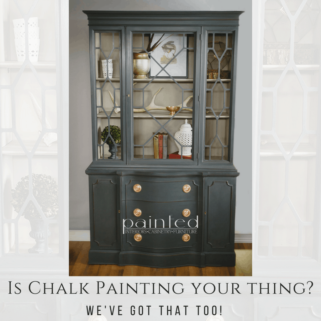 How to chalk paint a China Cabinet