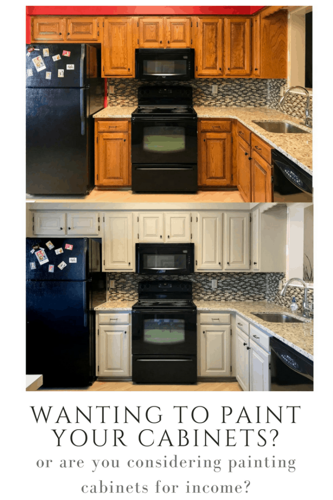 How to paint your kitchen cabinets.