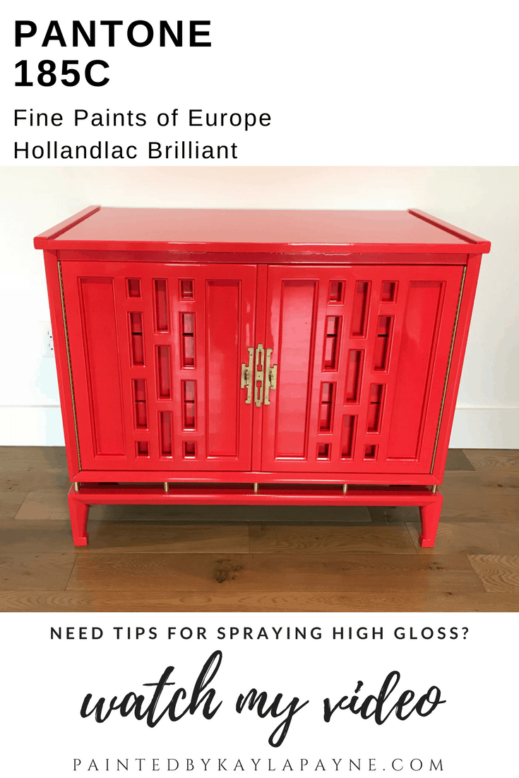 High Gloss Red Orange Stunning Nightstand. Fine Paints Of Europe Hollandlac  Brilliant Will Knock Your