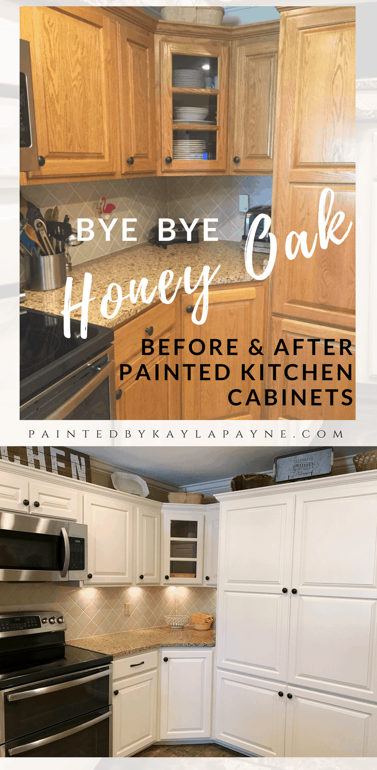 Bye Honey Oak Kitchen Cabinets O Brighter