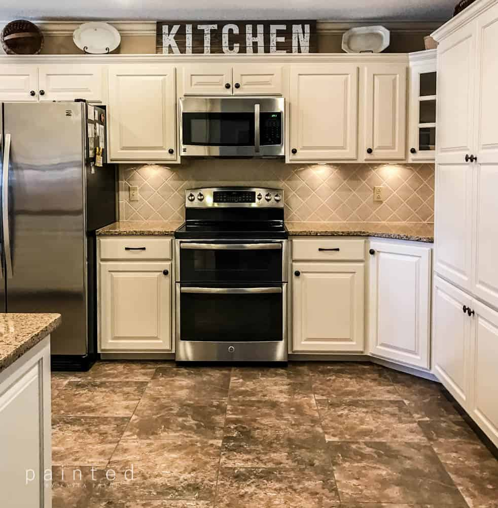 Best Paint For Kitchen Cabinets No Sanding: Bye Bye Honey Oak Cabinets, Hello Brighter Kitchen