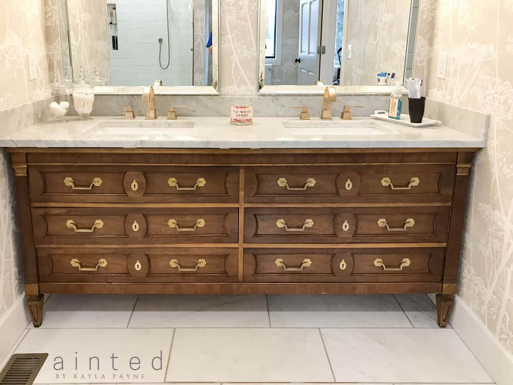 How To Use A Dresser For Bathroom Vanity Thomasville Converted Into Vintage Furniture In Modern
