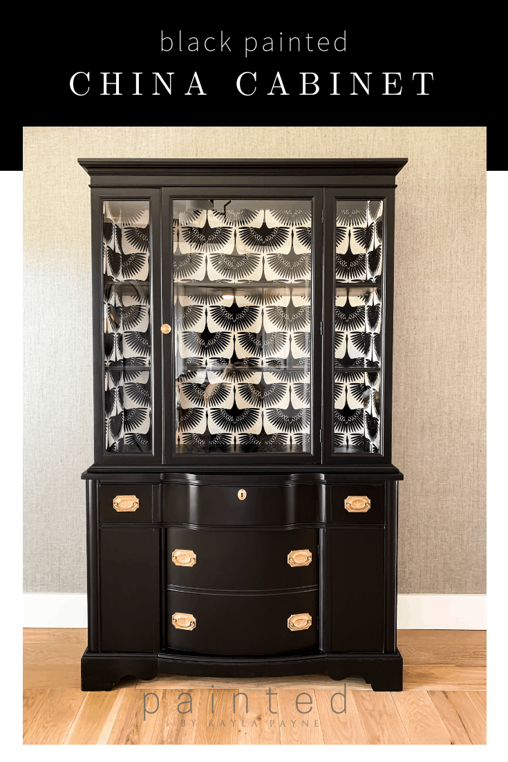 The Best Satin Black Paint For Furniture And More! Black Painted China  Cabinet Before And