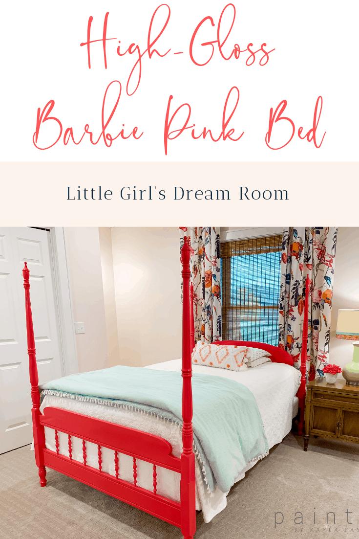 Barbie pink bed, little girl bedroom ideas, little girl ...