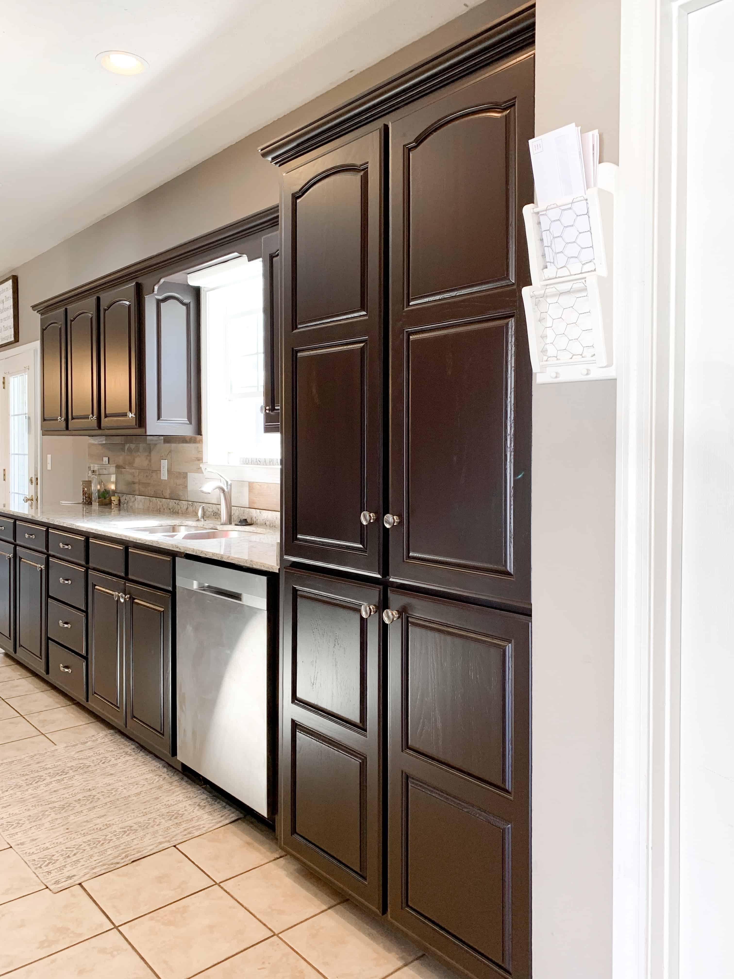 dark brown cabinets, espresso cabinets, espresso painted ...