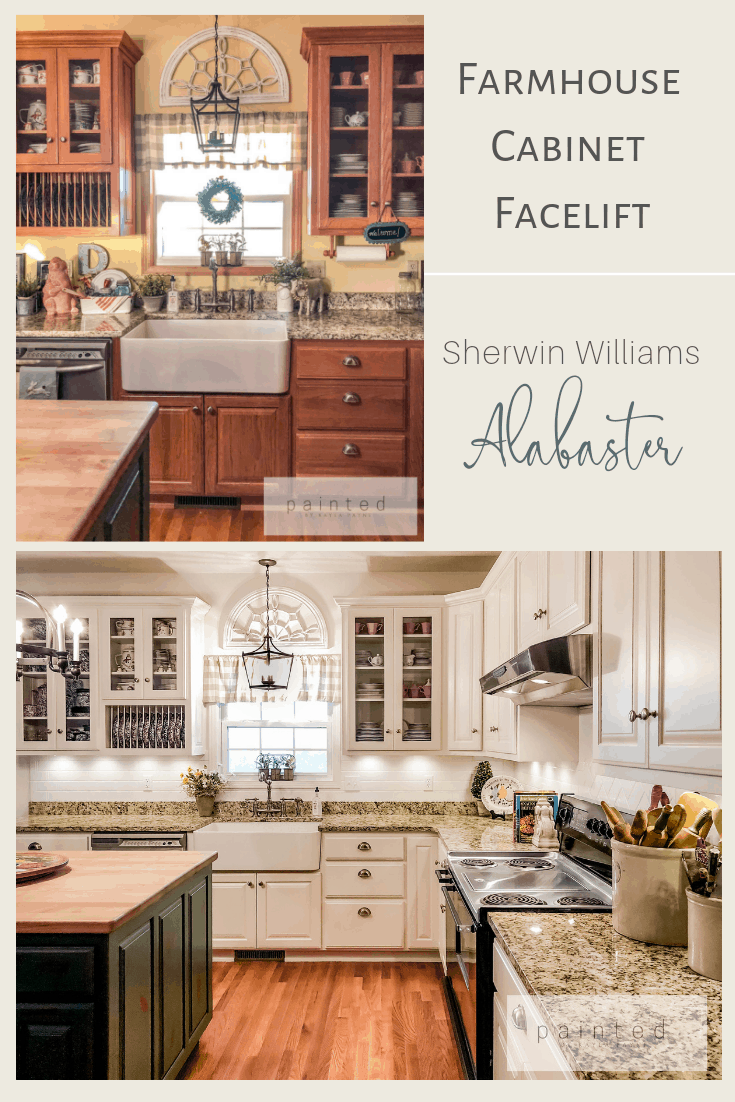 Sherwin Williams Alabaster How To Paint Kitchen Cabinets