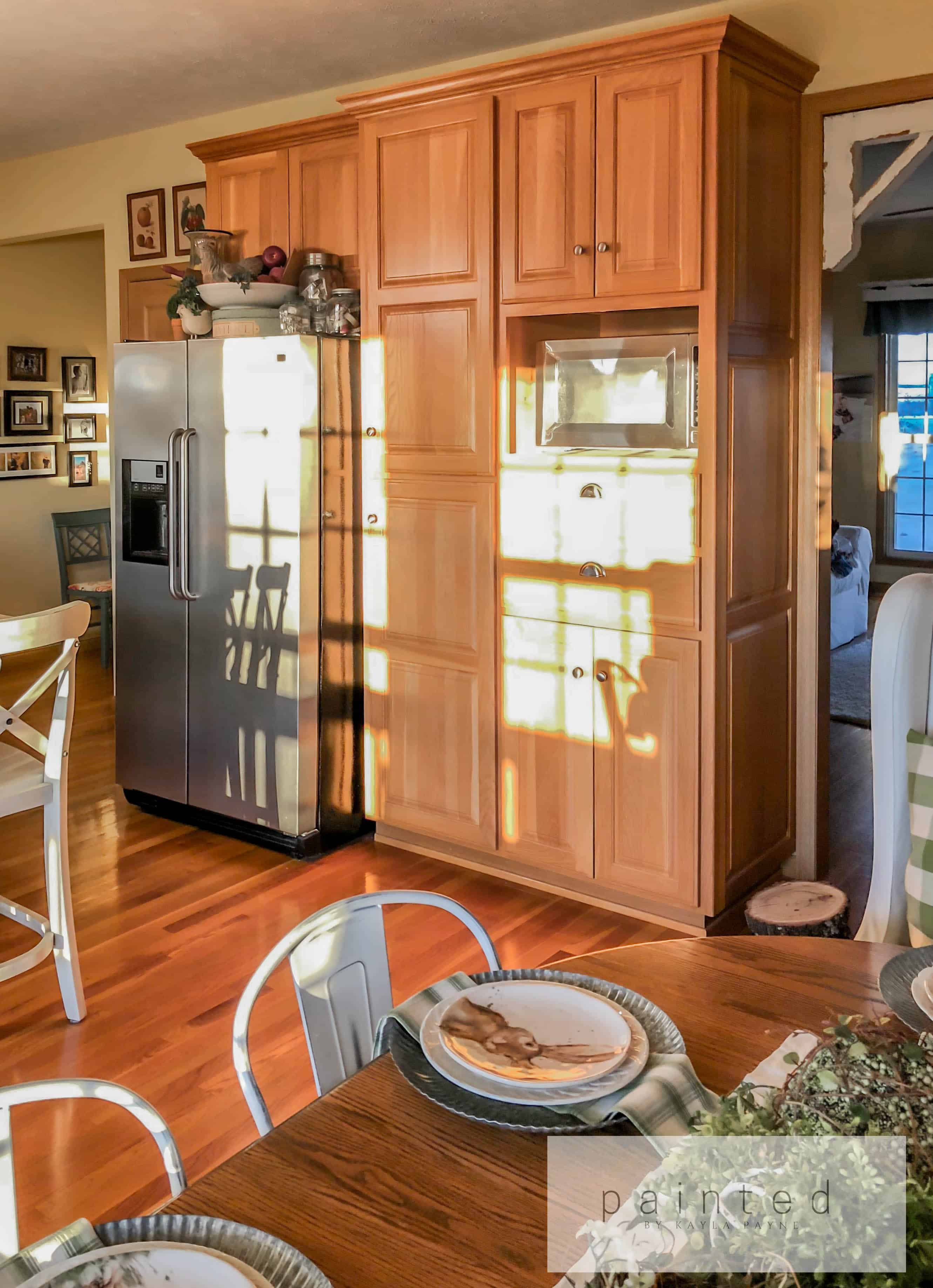 From Oak To Alabaster Kitchen Cabinet Facelift Painted
