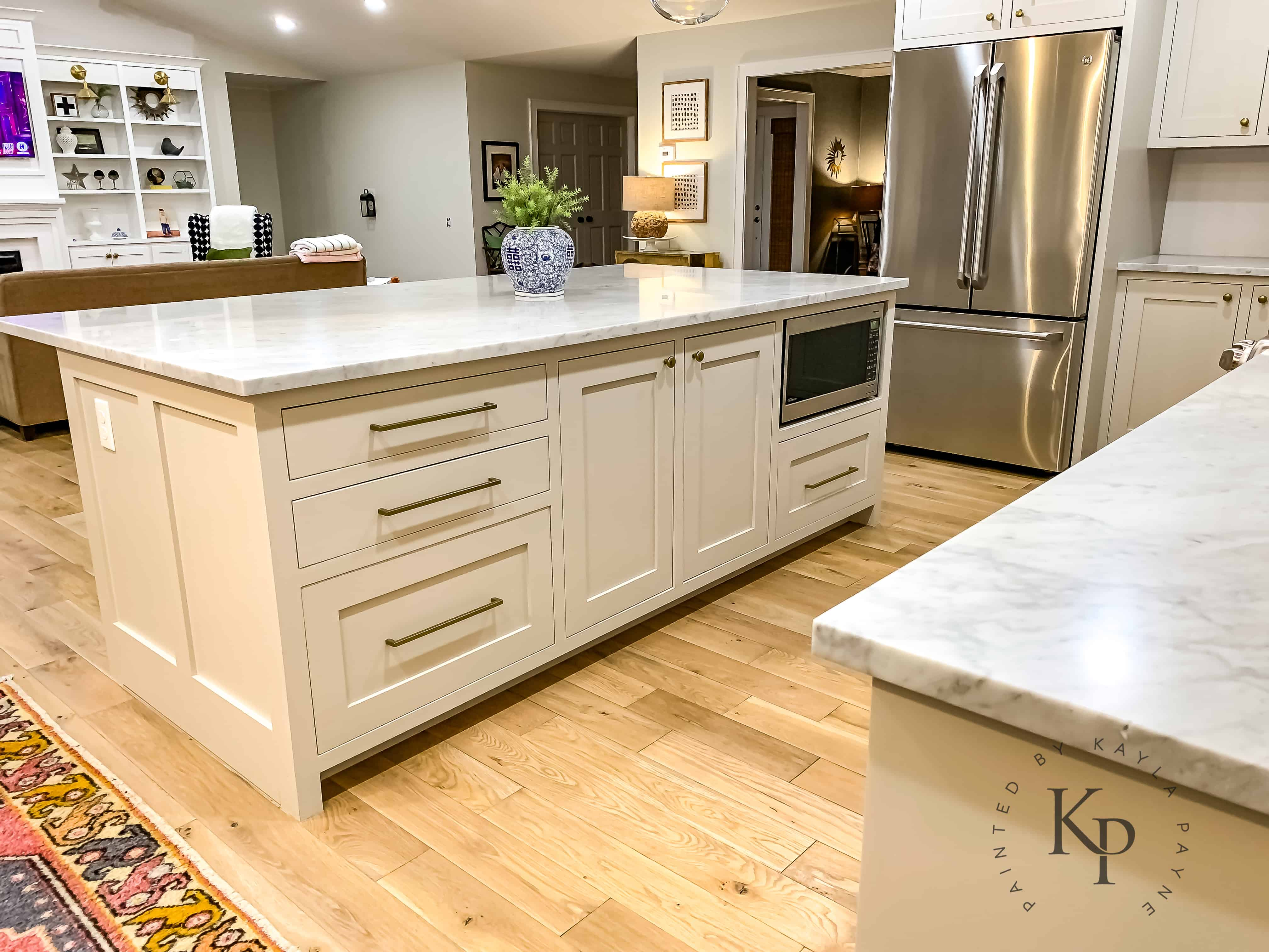Revere Pewter Kitchen Cabinets - Painted by Kayla Payne