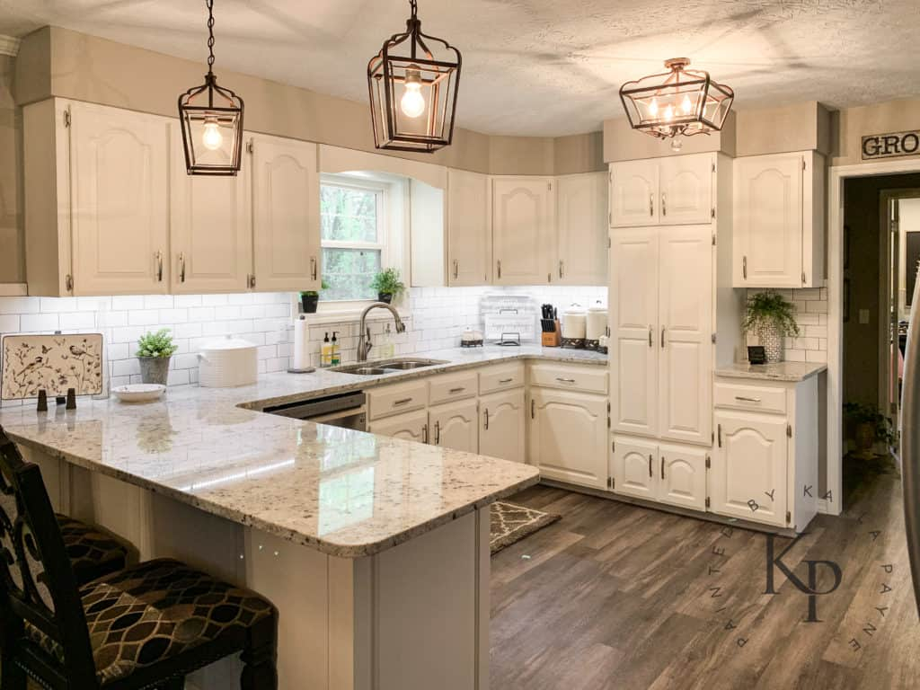 Kitchen Cabinets In Alabaster - Painted by Kayla Payne