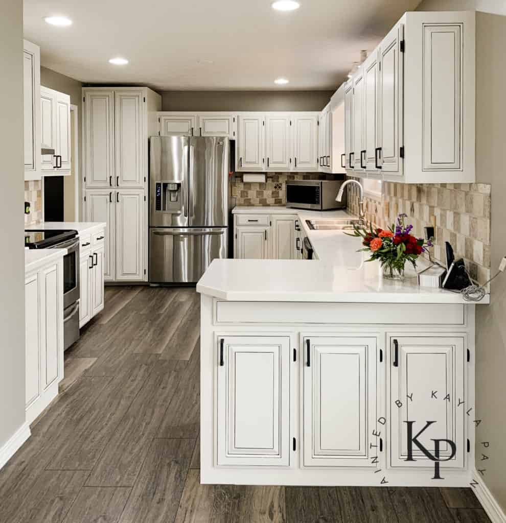 Image of: Kitchen Cabinets Painted In Neutral Ground Painted By Kayla Payne