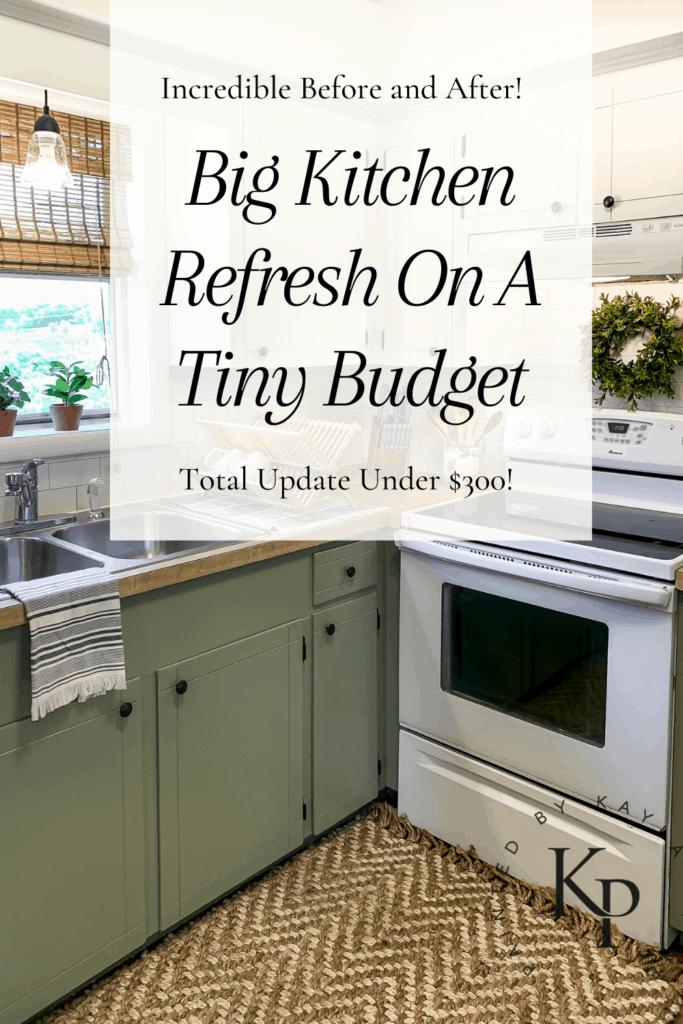 Big Kitchen Refresh On A Tiny Budget Painted By Kayla Payne