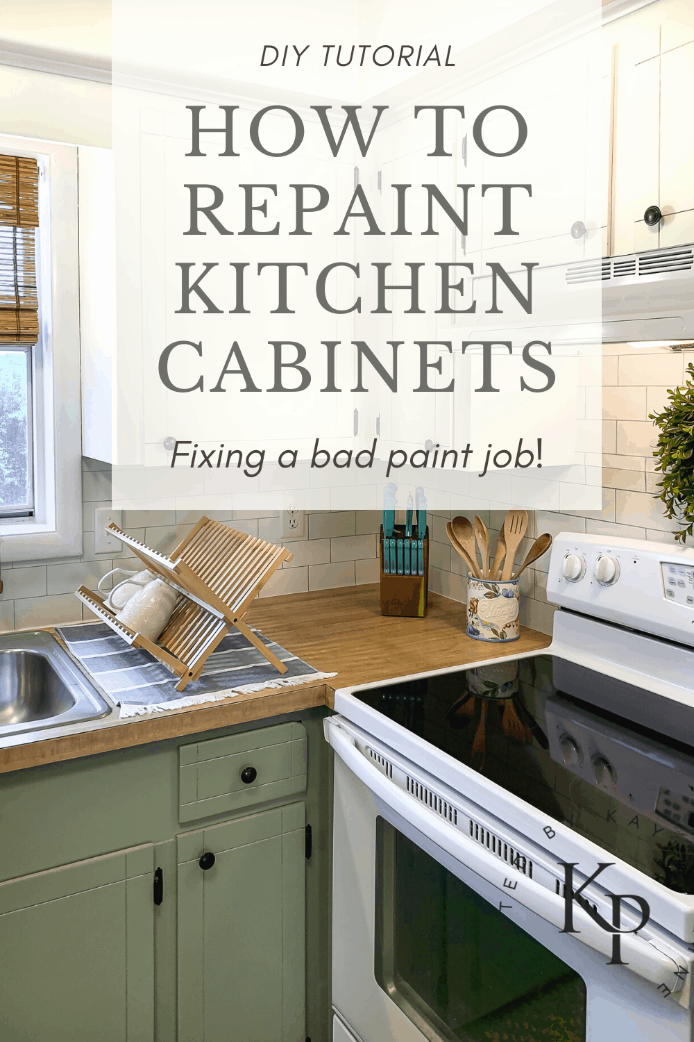 How To Repaint Kitchen Cabinets Painted By Kayla Payne