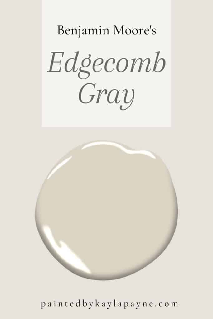 Benjamin Moore S Edgecomb Gray Paint Guide Painted By Kayla Payne